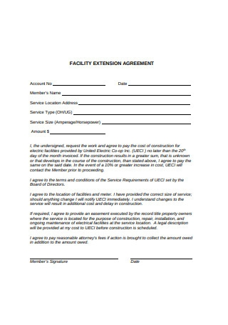 Facility Extension Agreement