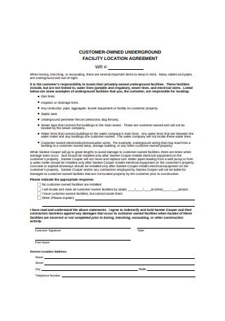 Facility Location Agreement