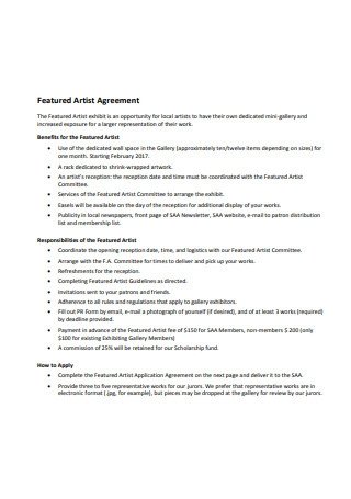 Featured Artist Agreement