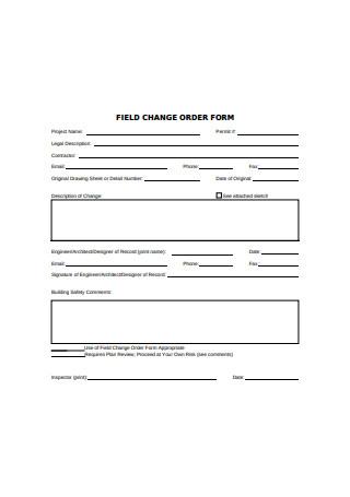 Field Change Order Form