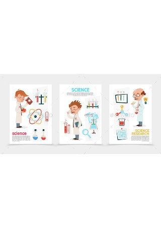 Flat Scientific Research Poster