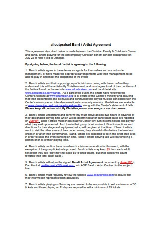 Formal Artist Agreement