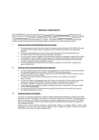 Formal Broker Agreement