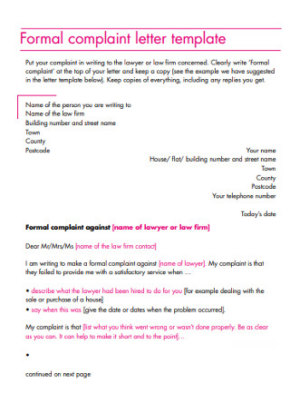 Formal Letter Format Template from images.sample.net