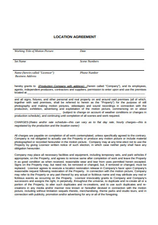 Formal Location Agreement