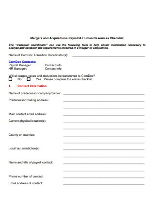 Formal Payroll Checklist
