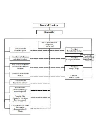 Format of Complex Organizational Chart