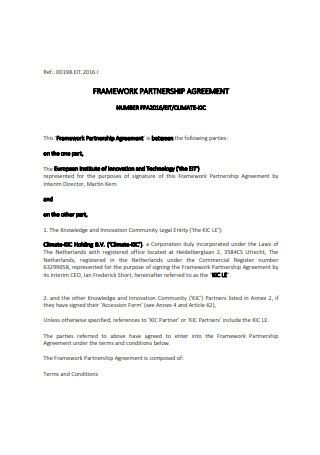 Framework Partnership Agreement