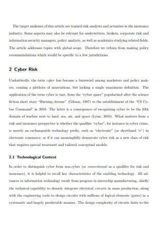Fundamental Approach to Cyber Risk Analysis