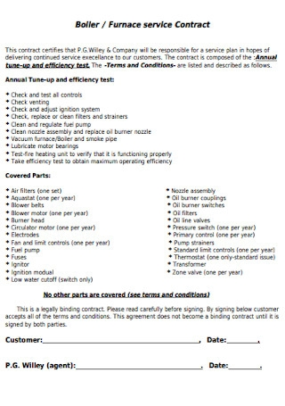 Furnace Service Contract