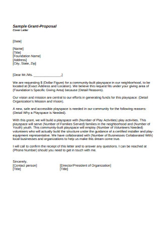 Grant Proposal Letter
