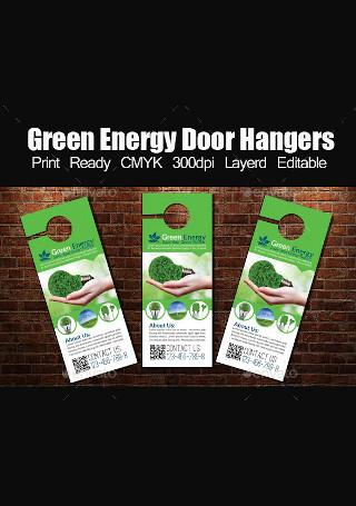 Green Energy Door Hanger