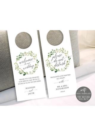 Greenery Wedding Door Hanger