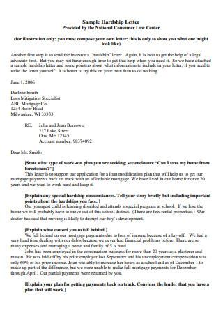 Hardship Letter Format