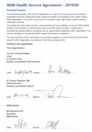 Health Service Agreement