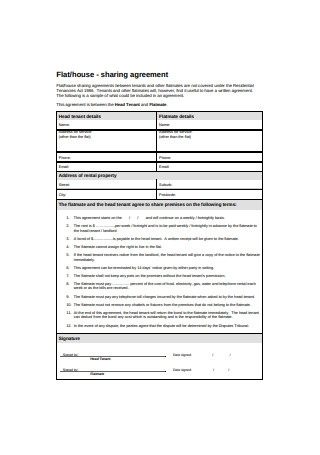 House Sharing Agreement