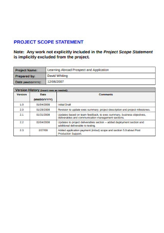 IT Office Project Scope Statement