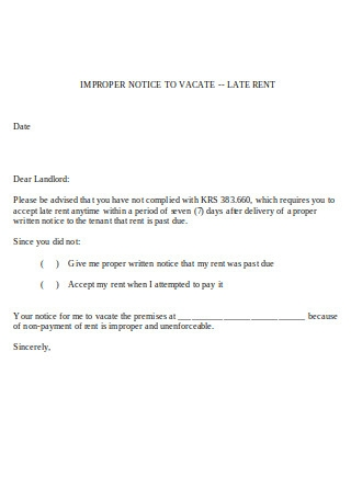 Sample Letter To Tenant For Late Rent from images.sample.net