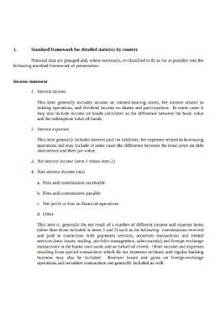 Income Statement Framework