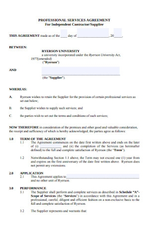 Independent Contractor Service Agreement