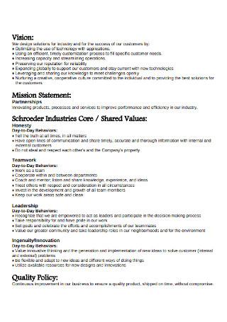 Industries Vision Statement