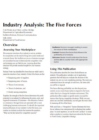 Industry Analysis Forces