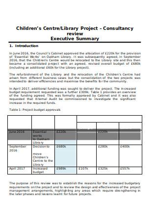 Internal Audit Consultancy Report
