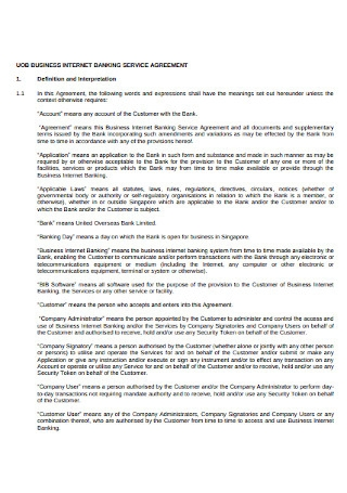 Internet Banking Service Agreement