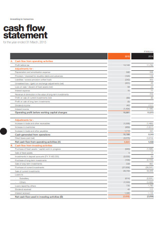 Investing Cash Flow Statement