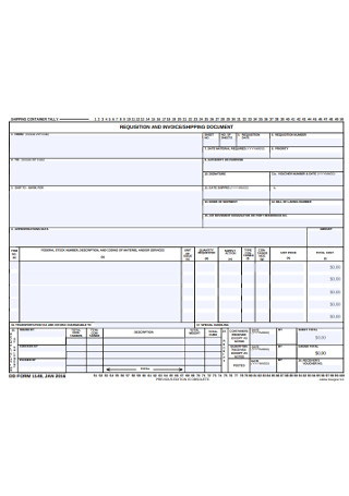 Invoice Shipping Document