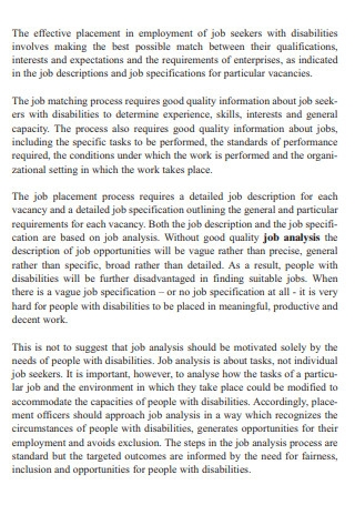 Job and Work Analysis