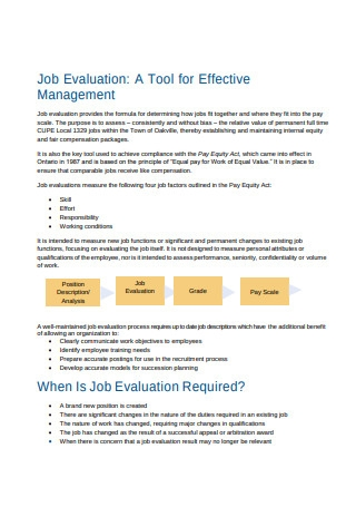 Joint Job Evaluation Template