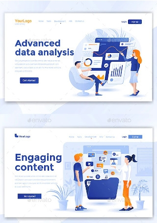 Landing Page on Various Topics