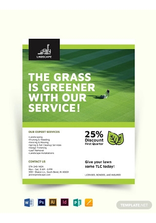 Landscaping Service Flyer Template