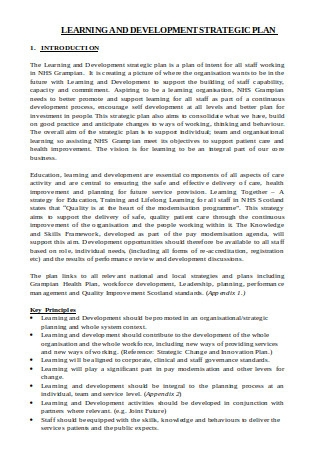 Learning and Development Strategic Plan