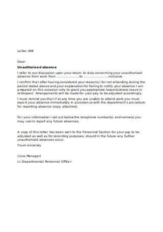 Letter to Employee Granting Sickness Leave