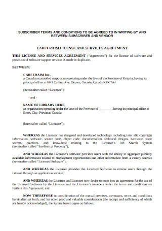 License and Services Agreement