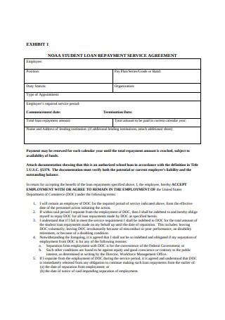 Loan Repayment Service Agreement