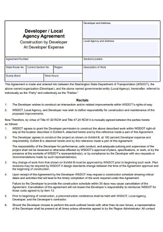 Local Agency Agreement