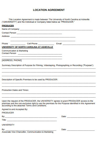 Location Agreement Form