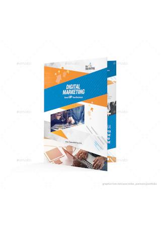 Marketing Bifold Halffold Brochure