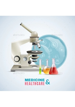 Medical Healthcare Research Flat Composition