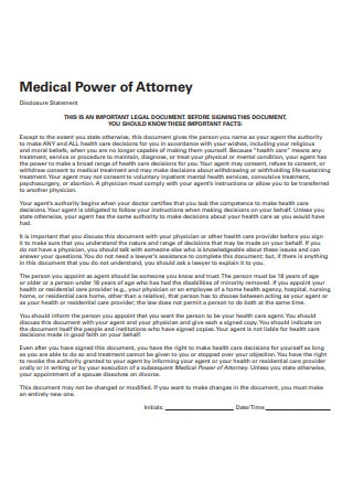 Medical Power of Attorney