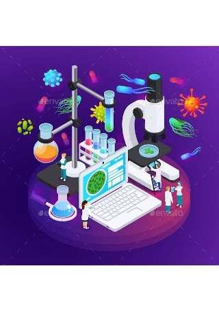 Microbiology Isometric Poster