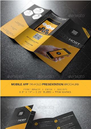 Mobile App Tri Fold Presentation Brochure