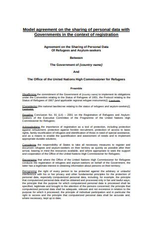 Model Data Sharing Agreement