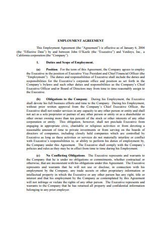 Model Employment Agreement