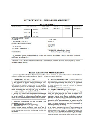 Model Lease Agreement Format