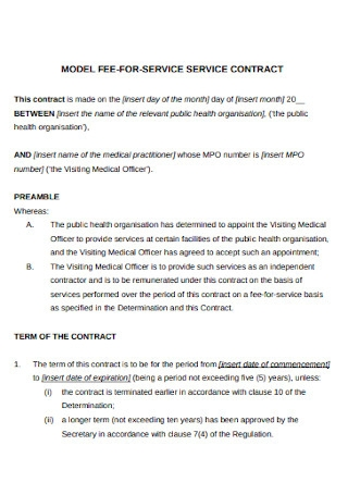 Model Service Contract