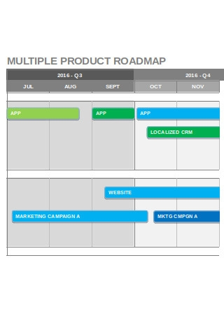 Multiple Product Roadmap